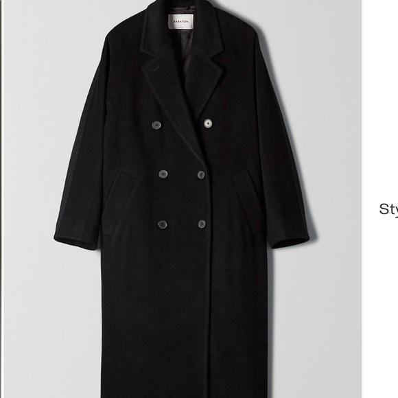 Slouch coat from Aritzia